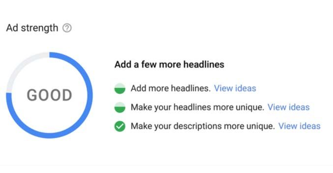 Google Ad Strength