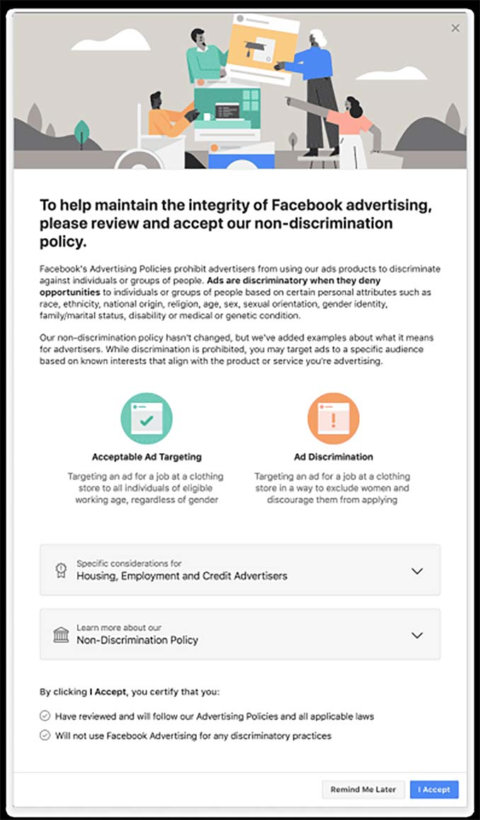 Facebook Ad Targeting Compliance Form